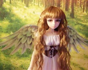 1/3 OOAK Angel Wings for dolls - Crystal Blue