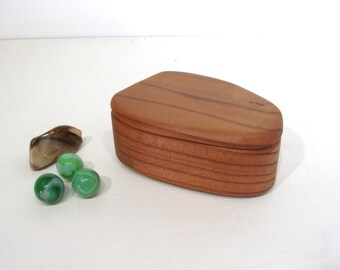 California Redwood Box, engagement ring box, ring bearer box, proposal box, earring box, eco gift box, guitar pick box, Christmas