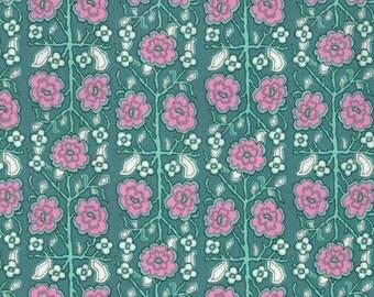 Amy Butler Splendor Pincushion Floral Sage PWAB168 100% Quilters Cotton - You choose the Length