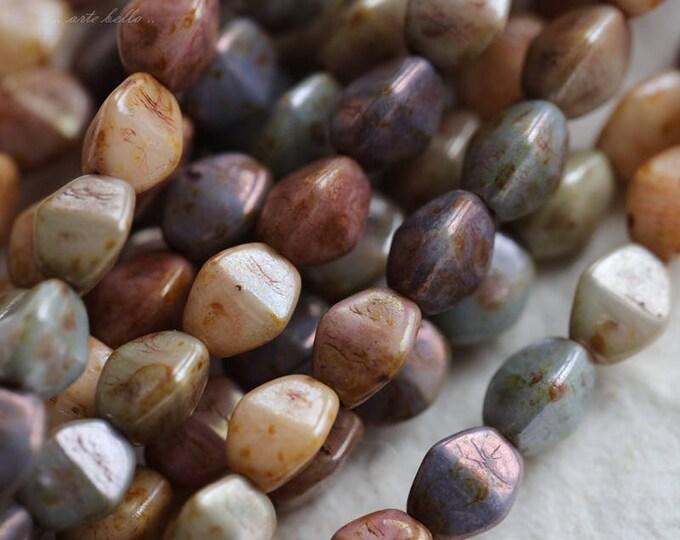 PINCH MEDLEY .. 35 Premium Czech Glass Pinch Beads 3x5mm (5770-35)