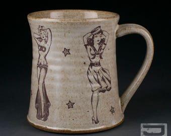 Tattoo/Pinup 16 oz Ceramic Mug