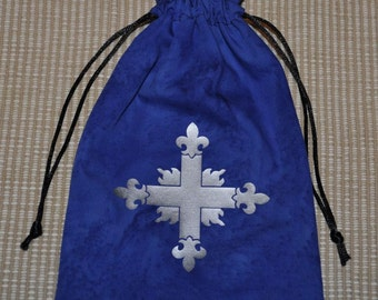 Medieval Crusader drawstring game dice bag