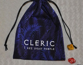 Dungeons and Dragons CLERIC game dice bag