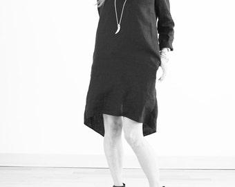 Back Slit Linen Dress