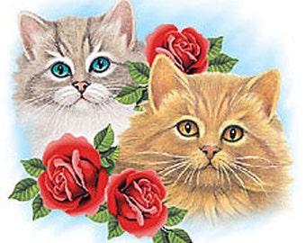 Cat Short Sleeve Tee Shirt Sizes Small - 3XL Plus Sizes Too Grandma Free Shipping Birthday Gift New Flower Womens Mom Kitty Kitten Pet Paw