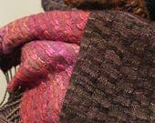 RESERVED FOR ADRIENNE -  Handwoven Silk and Wool Scarf: Sussurus