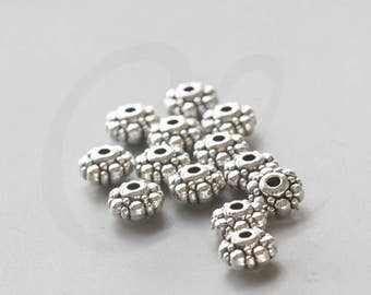 30 Pieces Oxidized Silver Tone Base Metal Spacers-9x5mm (2558X-C-207)