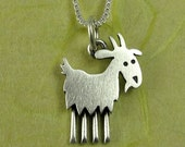 Tiny goat necklace / pendant