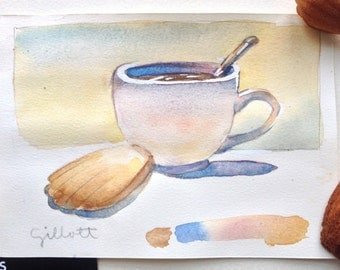 Original watercolor 'Mamy Therese' madeleines #1