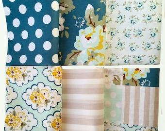 Wiltshire Daisy in Blue Gray - 1 Yard Cuts - Bundle of 6 - by Carina Gardner for Riley Blake Designs