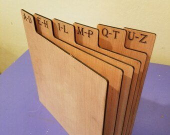 A-Z Record (LP) Dividers, Vertical Organizers, 6 Tabs. For the music lover and record collector.