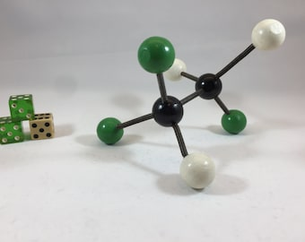 Vintage Molecular Model #12 Mid Century Modern Sculpture - Science - Retro - Molecule - Atomic - Space Age