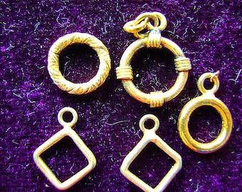 TOGGLE, Rings, No Bars, Destash, 14k Gold Filled, Vermeil, Clasps, Findings