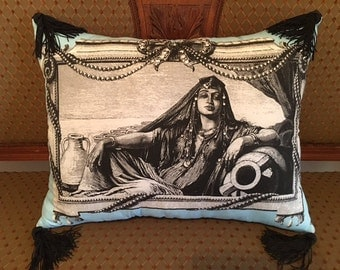 "Picture Perfect Pillows.  ""Queen Lady""  Crystal Embellished"