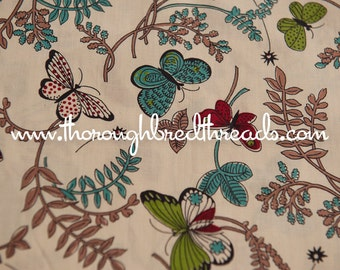 Colorful Butterflies-  Vintage Fabric Novelty Mod 60s 36 in wide