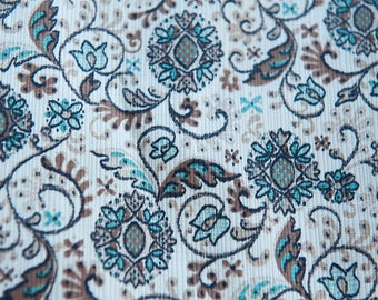 Mod Mid Century Style  - Vintage Fabric 50s 60s 36 in wide New Old Stock Atomic Folk Art