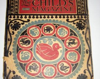 Antique Children's Educational Magazine - John Martin's Book , The Child's Magazine, November, 1925