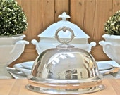 Vintage Lovely........Silver Plate Dome