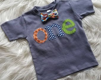 1st Birthday Shirt, Boy Birthday Outfit, One Birthday Shirt, Birthday Shirt, Birthday Boy Shirt, First Birthday Party, Bowtie Birthday Shirt