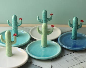 cactus ring dish // jewelry holder // boho decor