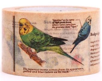 185416 bird budgie mt Washi Masking Tape deco tape
