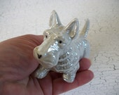 Porcelain Scottie Dog Figurine Miniature Vintage Old