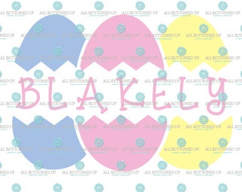 Easter Eggs Personalized name digital cut file: svg