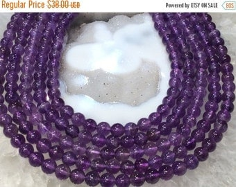 50% Mega Sale 7mm Amethyst Round Gemstone Beads
