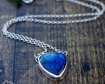 Labradorite sterling silver  bohemian necklace - Enchantment -