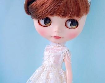 Blythe white lace dress