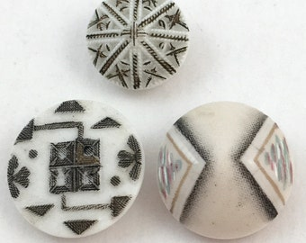 antique early Art Deco glass buttons
