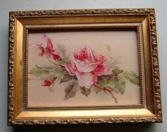 Pink Roses, Catherine Klein, Art Print, Framed Art, Shabby Chic Decor