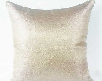 Metallic Gold Pillow Covers Decorative Pillows Champagne Pillow Covers, Dull Gold pillow, Gold pillow cover, Metallica Pillow Cover