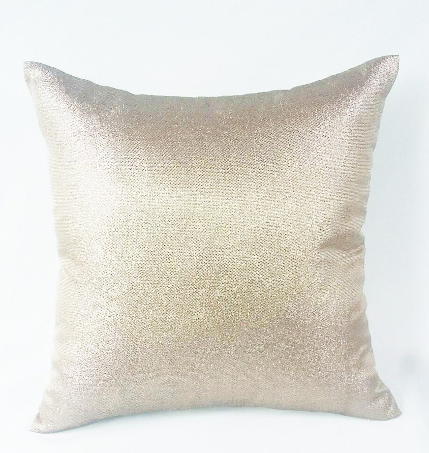 Metallic Gold Pillow Covers Decorative Pillows Champagne