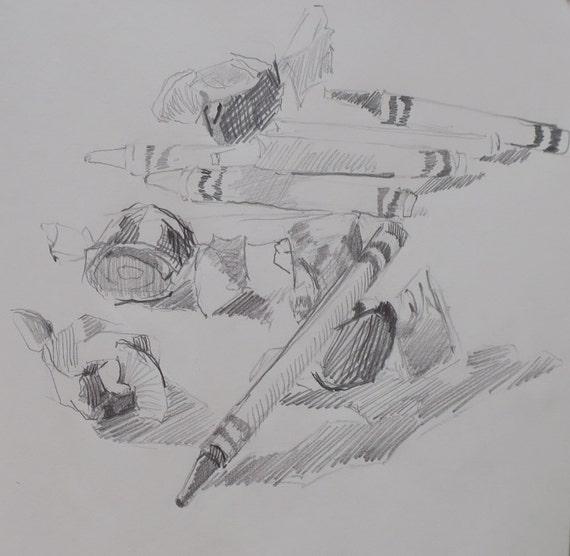 Daily Sketch #67 original drawing by South Carolina artist Linda Hunt