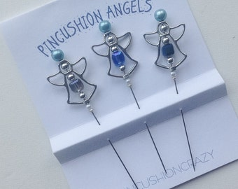 Pincushion Angel Pins - A Quilter's Angel - Decorative Sewing Pin - Stick Pin - Secret Sister Gift - Gift for Quilter - Gift Exchange