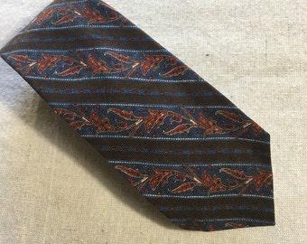 Vintage Liberty of London 100% Wool Challis Mens Tie, Necktie, Cravat