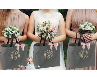 1 Bridesmaid tote bags , bridesmaid gifts , tote bag , beach bag , bachelorette party gift ,wedding bag , wedding tote bags