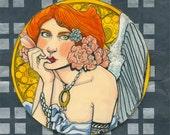 Set of Three Large Art Nouveau Angel 2016 Ornament Design