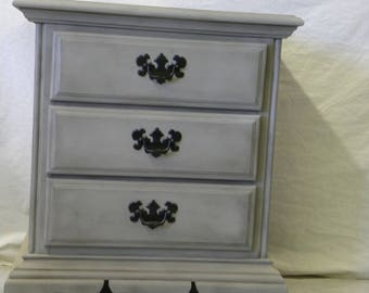 Three Drawer Night Stand Side Table Hand Painted American Crew