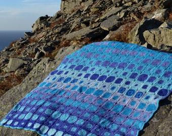Severn Sea Crochet Afghan/Blanket  - PDF CROCHET PATTERN