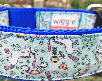Unicorn Farts! Handmade custom dog collar, collars for big dogs, collars for small dogs, large sog collar, dog accesories, collar and leash