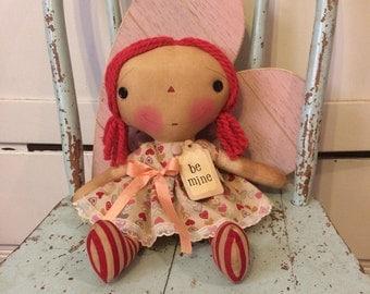Be mine Raggedy Ann - Valentine's Day Raggedy Annie - Valentine's Day gift - Valentine's doll - Ragdoll - mother's gifts - Raggedy Ann Doll