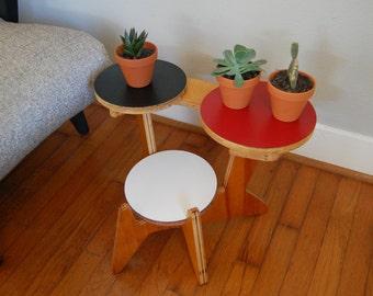 Mid Century Modern Shelf Plant Stand