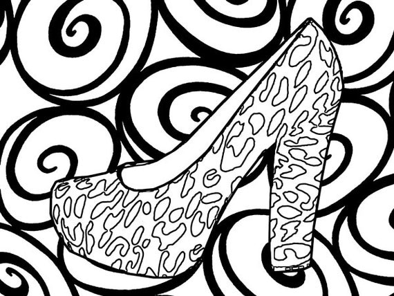 womens high heel shoes abstract coloring pages for adults printable coloring page fashion coloring book page printable