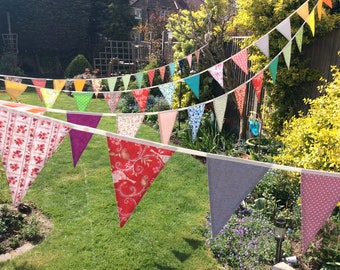 Extra Long Bunting / fabric garland / banner - 40ft Long 12m, bright fun colours, weddings, parties, decoration