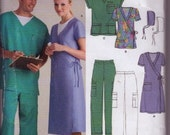 2006 New Look Scrub 6634  pattern sewing pattern size xs - xl