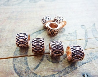 Bead Copper Filigree Bead Large Hole Beads (4) IC321