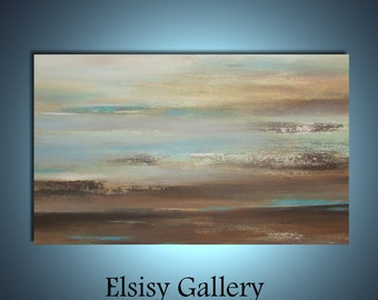 Original large abstract painting wall art deco by Elsisy 50x30 sale Free US shipping