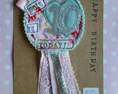 Personalized Party Birthday Rosette Badge Age Ribbon Rosette made to order s